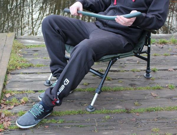 EHMANNS fishing Black Pants Bestickt