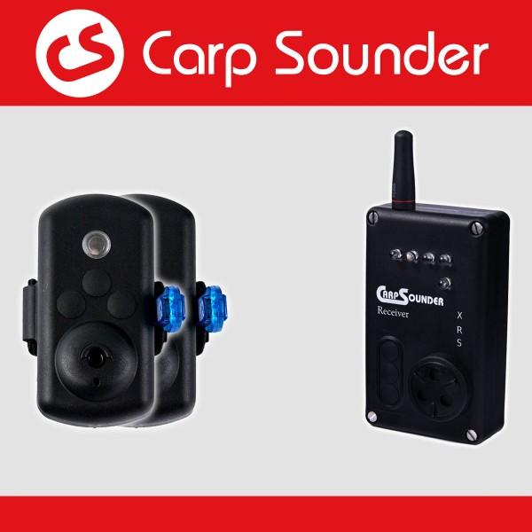 Carp sounder Catsounder XRS Bundle Angebot ‐ 2 Bissanzeiger + Receiver nach Wahl im Koffer