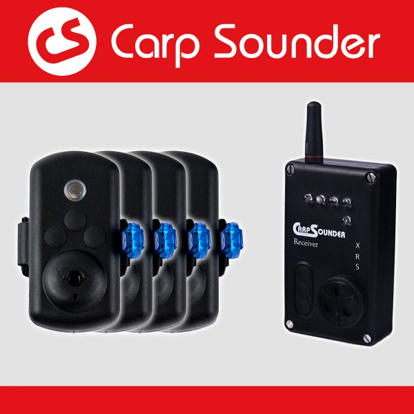 Carp sounder Catsounder XRS Bundle Angebot ‐ 4 Bissanzeiger + Receiver nach Wahl im Koffer