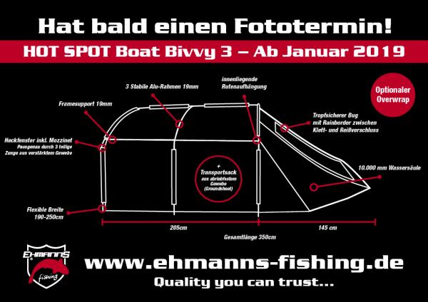 Hot Spot boat Bivvy 3 Overwrap